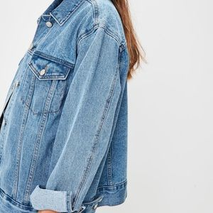 Missguided Jackets & Coats - Women's Oversized Denim Jacket